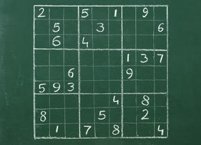 Sudoku on the blackboard
