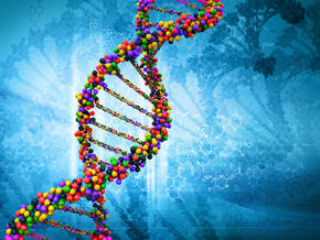 Colorful strand of DNA