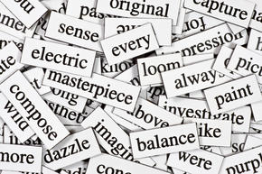 pile of magnet words