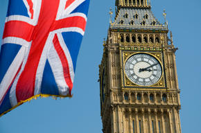 British flag and Big Ben