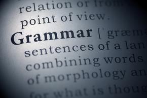 'Grammar' in the dictionary