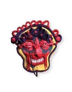 Halloween art masks large