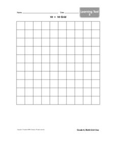 10 x 10 Grid Worksheet