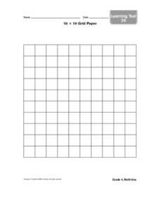 10 x 10 Paper Grid Worksheet