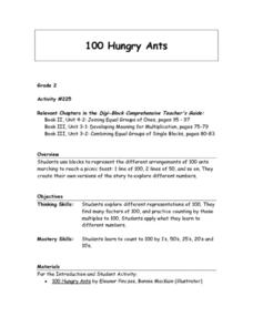 100 Hungry Ants Lesson Plan