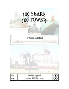 100 Years 100 Towns Lesson Plan