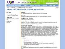 1998 Deaf President Now Protest Lesson Plan