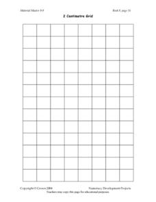 2 Centimetre Grid Lesson Plan