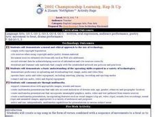 2001 Championship Learning, Rap It Up Lesson Plan