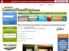 3-D Recycled Mayan Step Pyramid Lesson Plan