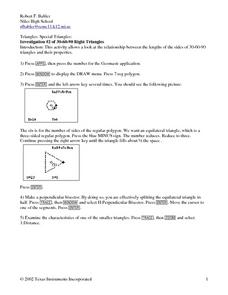 30-60-90 Right Triangles Lesson Plan