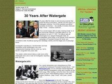 30 Years After Watergate Lesson Plan