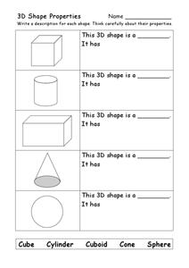 3d shapes worksheets 5th grade