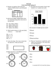 3rd Grade TAAS Attack Daily Upkeep #9 Lesson Plan