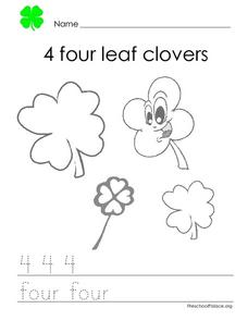 4 Four Leaf Clovers Lesson Plan