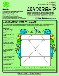 4 h leadership skills intermediate activity page 4th 5th grade worksheet lesson planet. Black Bedroom Furniture Sets. Home Design Ideas