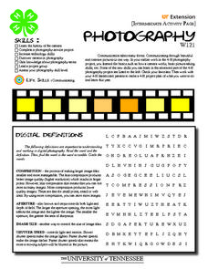 Printables Photography Worksheets 4 h photography intermediate activity pages 7th 10th grade worksheet