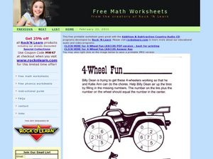 4 Wheel Fun Worksheet