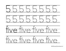 5 Five Worksheet