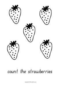 5 Strawberries Worksheet