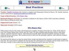 50's Dance Day Lesson Plan