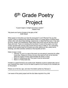 6th grade poetry project 6th 8th grade activities project lesson planet. Black Bedroom Furniture Sets. Home Design Ideas