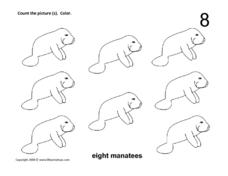 8 Manatees Worksheet