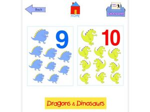 9-10 Dragons and Dinosaurs Flashcards Worksheet
