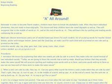 """A"" All Around Lesson Plan"