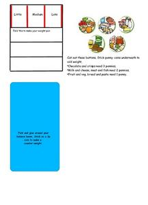 A Balanced Meal Worksheet
