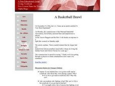 A Basketball Brawl Lesson Plan