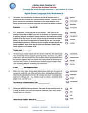 Worksheet 8th Grade Ela Worksheets a better grade tutoring eighth language arts worksheet worksheet