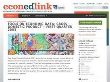 A Case Study: Gross Domestic Product - First Quarter 2003 Lesson Plan