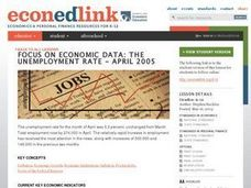 A Case Study: The Unemployment Rate - April 2005 Lesson Plan
