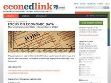 A Case Study: The Unemployment Rate - November 1, 2002 Lesson Plan
