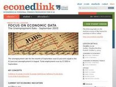 A Case Study: The Unemployment Rate - September 2003 Lesson Plan