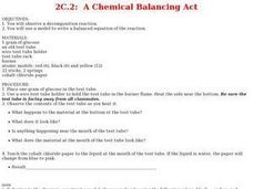 A Chemical Balancing Act Lesson Plan