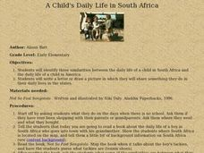 A Child's Daily Life in South Africa Lesson Plan