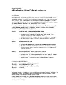 Printables Rhetorical Devices Worksheet gettysburg address rhetoric lesson plans worksheets a close reading of lincolns address