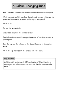 A Color-Changing Disc Worksheet