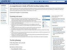 A Comprehensive Study of North Carolina Indian Tribes Lesson Plan