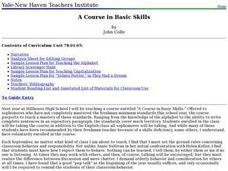 A Course in Basic Skills Lesson Plan