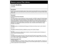 A Courtin' We Will Go Lesson Plan
