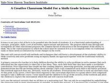 A Creative Classroom Model For a Sixth Grade Science Class Lesson Plan