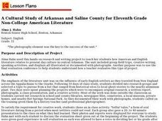 A Cultural Study of Arkansas and Saline County for Eleventh Grade Non-College American Literature Lesson Plan