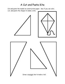 A Cut and Paste Kite Worksheet