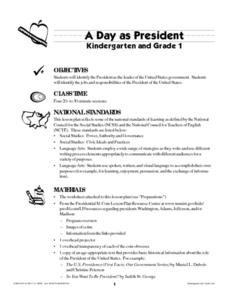 A Day as President Lesson Plan