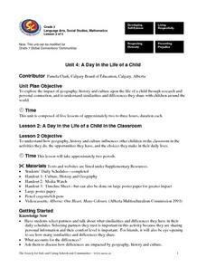 A Day in the Life of a Child (Lesson 2) Lesson Plan