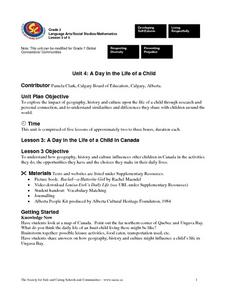 A Day in the Life of a Child (Lesson 3) Lesson Plan