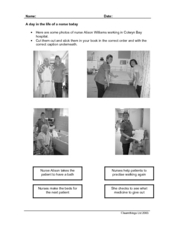 A day in the life of a nurse today Worksheet